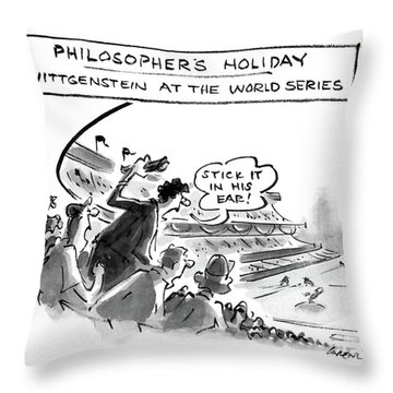 Philosopher's Holiday Wittgenstein At The World Throw Pillow