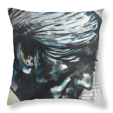 Philospher Jiddu Krishnamurti Throw Pillow by Chrisann Ellis