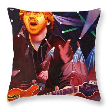 Phish Full Band Anastasio Throw Pillow by Joshua Morton
