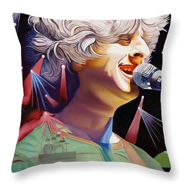 Phish Full Band Gordon Throw Pillow by Joshua Morton