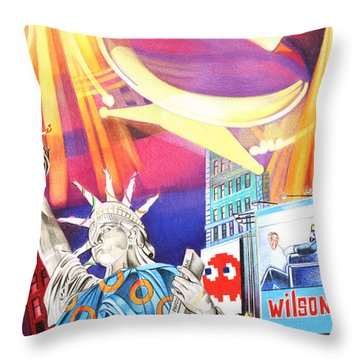 Phish New Years In New York Right Panel Throw Pillow by Joshua Morton