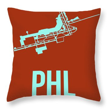 Phl Philadelphia Airport Poster 2 Throw Pillow