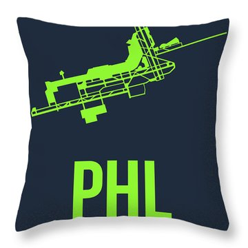 Phl Philadelphia Airport Poster 3 Throw Pillow