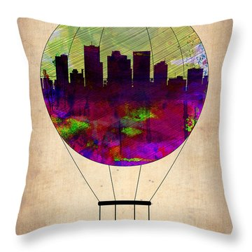 Phoenix Air Balloon  Throw Pillow by Naxart Studio