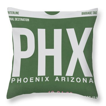 Phoenix Airport Poster 2 Throw Pillow by Naxart Studio
