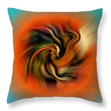 Phoenix Throw Pillow by Alessandro Della Pietra