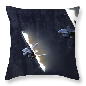 Phoenix Dancing Throw Pillow by Angel  Tarantella