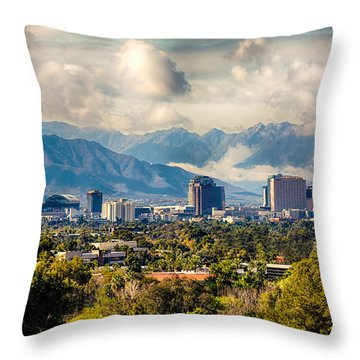 Phoenix Downtown Throw Pillow by Fred Larson