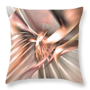 Phoenix Of The Future - Abstract Art Throw Pillow