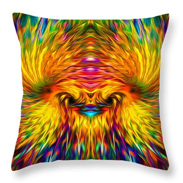 Throw Pillow featuring the painting Phoenix Rising  by Jalai Lama
