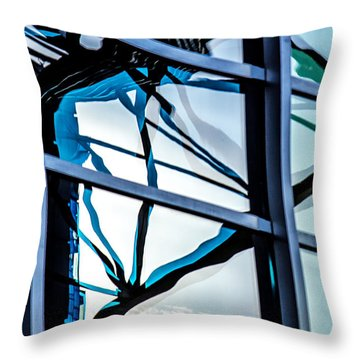 Phoenix Window Reflecting Grids Throw Pillow