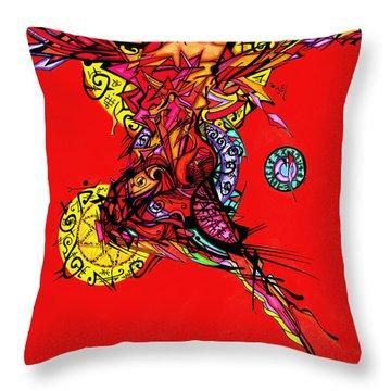 Phoenix Woman  Throw Pillow
