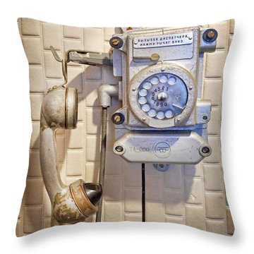 Phone Kgb Surveillance Room Throw Pillow by Martin Konopacki