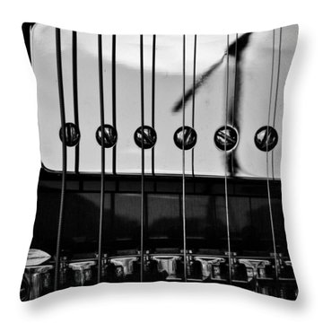 Phone Pole Reflection Throw Pillow