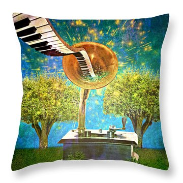 Phonograph Magic Throw Pillow