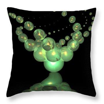 Phosphorescent Glass Twirl  Throw Pillow