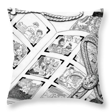Throw Pillow featuring the digital art Photo Album by Carol Jacobs