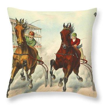 Photo Finish 1893 Throw Pillow