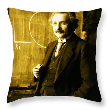 Photograph Of Albert Einstein Throw Pillow