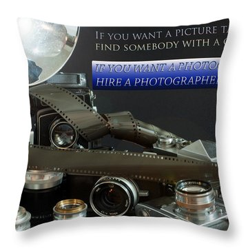Photographer Quote Throw Pillow