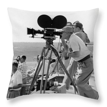 Photographers Filming An Event Throw Pillow