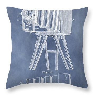 Photographic Camera Patent Throw Pillow