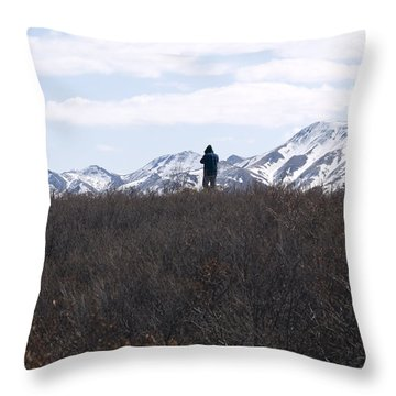 Photographing Nature   Throw Pillow
