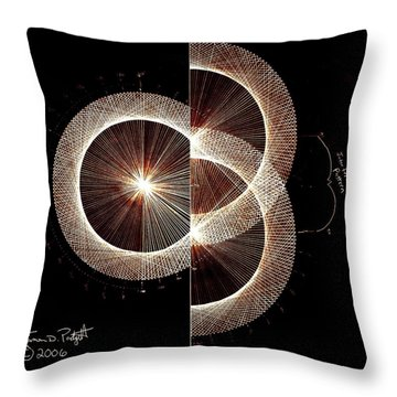 Photon Double Slit Test Hand Drawn Throw Pillow by Jason Padgett