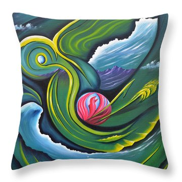 Photosynthesis Makes Me Green With Envy Throw Pillow by Tony Oakey