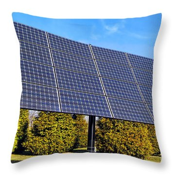 Photovoltaic Throw Pillow by Olivier Le Queinec