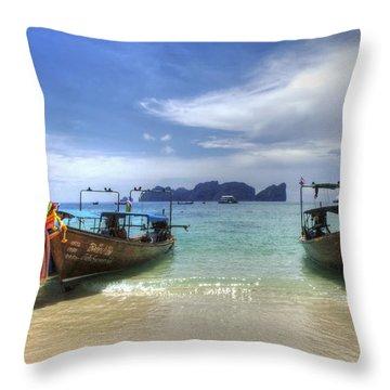 Phuket Koh Phi Phi Island Throw Pillow by Bob Christopher