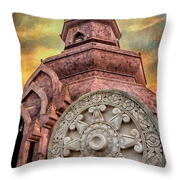 Phuttanimit Phra Saiyat Throw Pillow by Adrian Evans