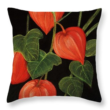 Physalis Throw Pillow by Anastasiya Malakhova