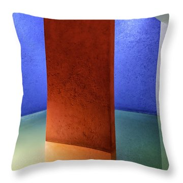 Physical Abstraction Throw Pillow by Lynn Palmer