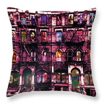 Physical Graffitied  Throw Pillow