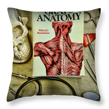 Physician - Tools Of The Trade Throw Pillow by Paul Ward