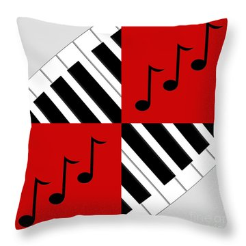 Piano Abstract 3 Throw Pillow by Andee Design
