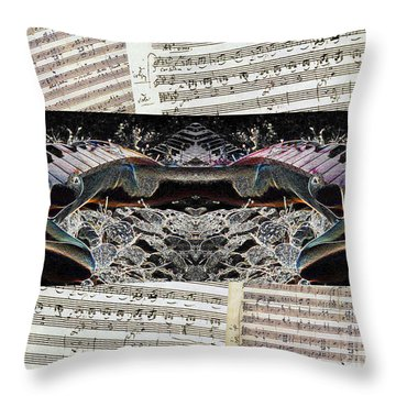 Piano Barojazz Scores Throw Pillow by Ha Imako