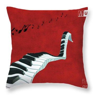 Piano Fun - S01at01 Throw Pillow