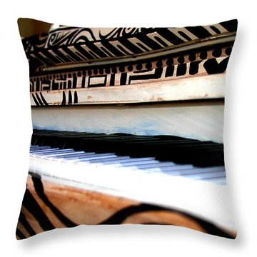 Piano In The Dark - Music By Diana Sainz Throw Pillow