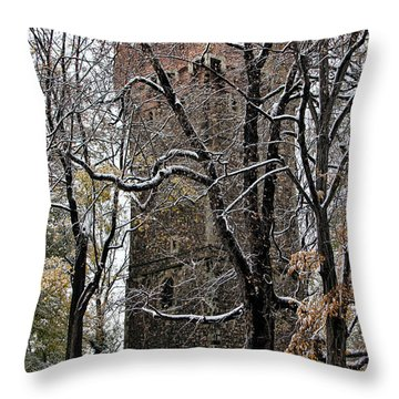 Piastowska Tower In Cieszyn Throw Pillow