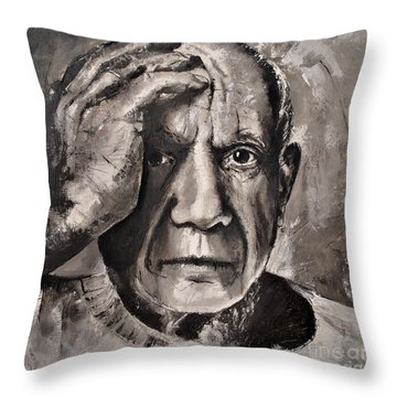Portrait Of Pablo Picasso Throw Pillow