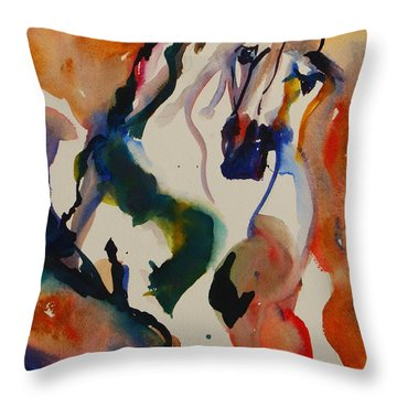 Picasso Throw Pillow by Nancy Gebhardt