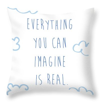 Picasso Quote Throw Pillow by Gina Dsgn