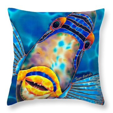 Picasso Triggerfish Throw Pillow