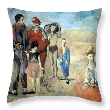 Picasso's Family Of Saltimbanques Throw Pillow