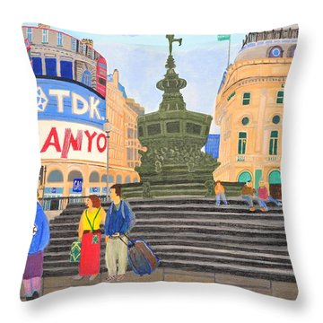 London- Piccadilly Circus Throw Pillow