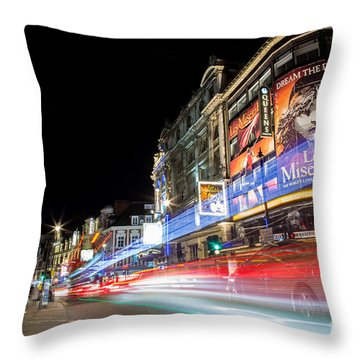 A Night In The West End Throw Pillow