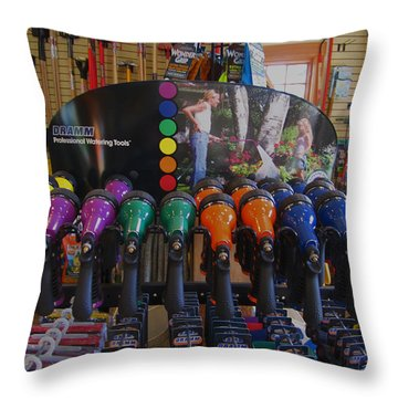 Pick A Color  Any Color Throw Pillow by Kym Backland