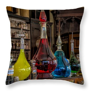 Pick An Elixir Throw Pillow by Adrian Evans